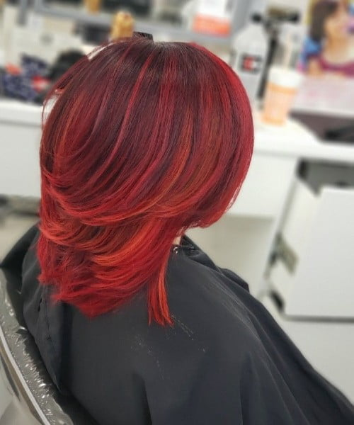Red hot ombre