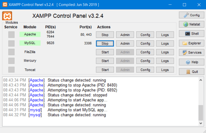 Creating multiple virtual hosts in Windows 10 when using XAMPP